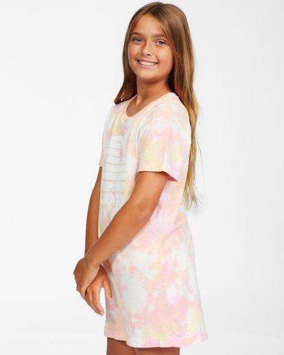 1 Girls' Keep It Beachy T-Shirt Dress Pink ABGKD00101 Billabong