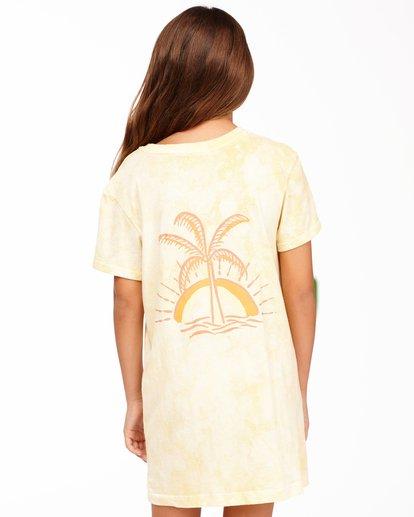2 Girls' Keep It Beachy T-Shirt Dress Yellow ABGKD00101 Billabong