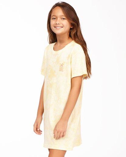 1 Girls' Keep It Beachy T-Shirt Dress Yellow ABGKD00101 Billabong
