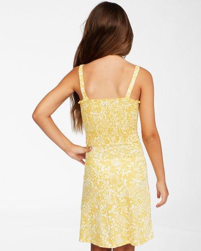 2 Girls' Summer Darlin Knit Dress Yellow ABGKD00111 Billabong
