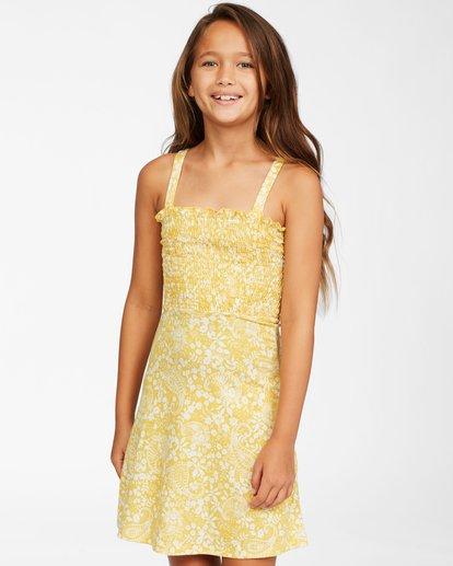 0 Girls' Summer Darlin Knit Dress Yellow ABGKD00111 Billabong