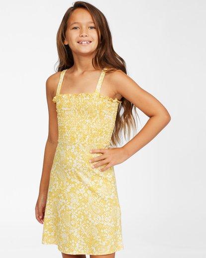 1 Girls' Summer Darlin Knit Dress Yellow ABGKD00111 Billabong