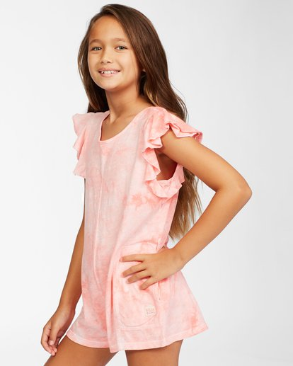 1 Girls' Wave Break Knit Dress Orange ABGKD00116 Billabong