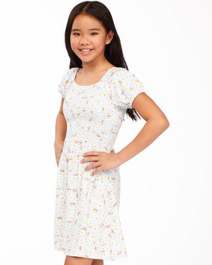 1 Girls' Beach Love Knit Dress Blue ABGKD00118 Billabong