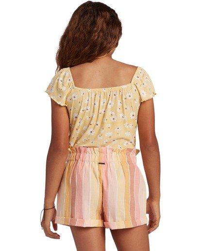 2 Girl's It's All Daisy Top Yellow ABGKT00127 Billabong