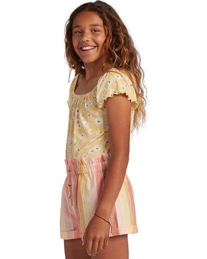1 Girl's It's All Daisy Top Yellow ABGKT00127 Billabong