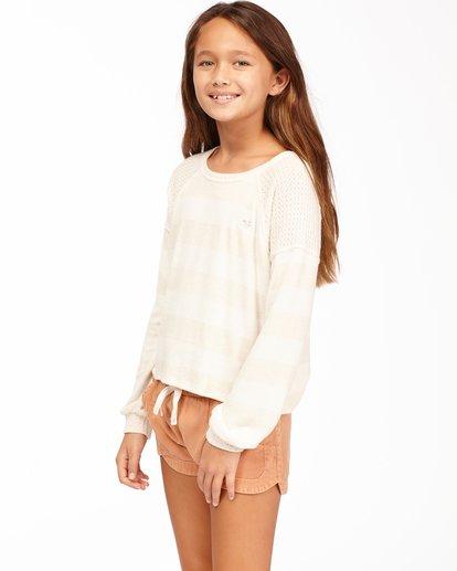 1 Girls' Fresh Start Knit Top White ABGKT00136 Billabong