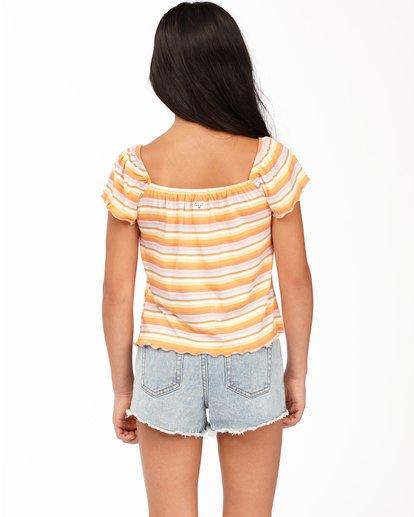 2 Girls' Its All Stripes Top Yellow ABGKT00138 Billabong