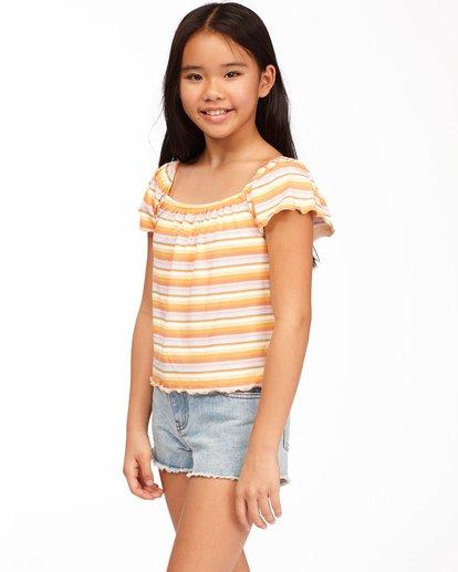 1 Girls' Its All Stripes Top Yellow ABGKT00138 Billabong