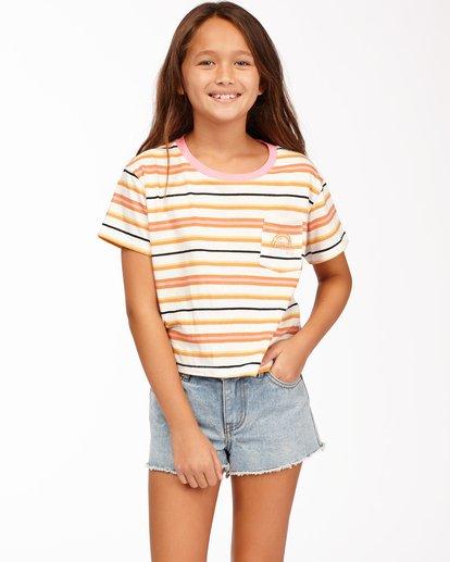 0 Girls' Surf Days T-Shirt Brown ABGKT00139 Billabong