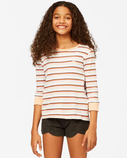 0 Girls' Going Stripes Top Grey ABGKT00141 Billabong