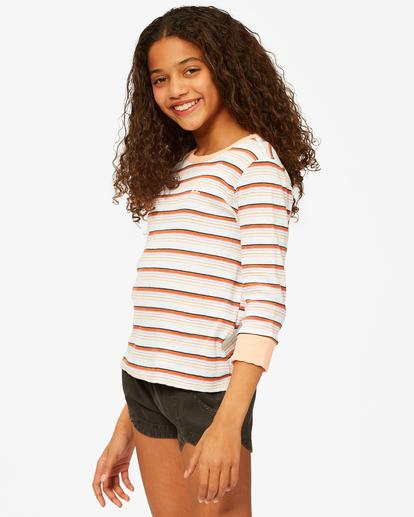 1 Girls' Going Stripes Top Grey ABGKT00141 Billabong