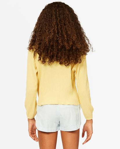 2 Girls' Im Set Henley Long Sleeve Top Yellow ABGKT00143 Billabong