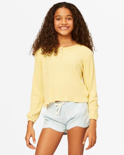 0 Girls' Im Set Henley Long Sleeve Top Yellow ABGKT00143 Billabong