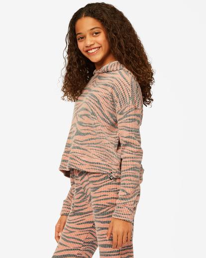 1 Girls' Wild Times Thermal Pullover Hoodie Brown ABGKT00144 Billabong