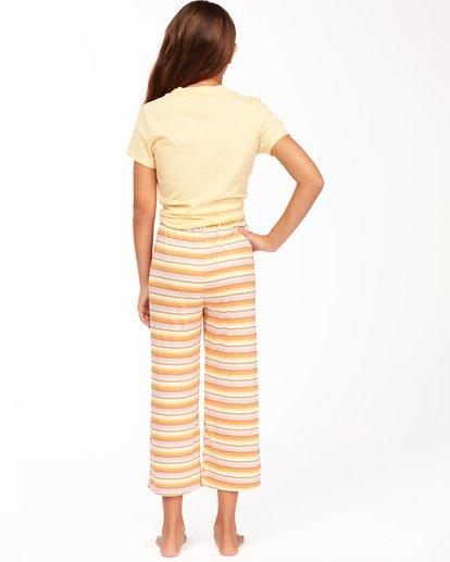 2 Girls' Tell Me Cropped Pants Yellow ABGNP00110 Billabong