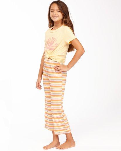 1 Girls' Tell Me Cropped Pants Yellow ABGNP00110 Billabong