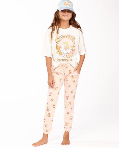0 Girls' New Day Sweatpants Pink ABGNP00112 Billabong