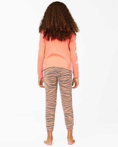 2 Girls' Wild Times Thermal Sweatpants Brown ABGNP00119 Billabong