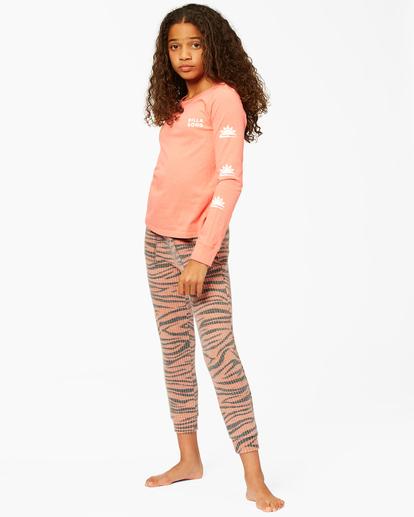 1 Girls' Wild Times Thermal Sweatpants Brown ABGNP00119 Billabong