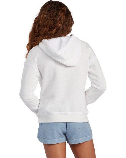 2 Girl's Aloha Love Pullover Sweatshirt White ABGSF00104 Billabong