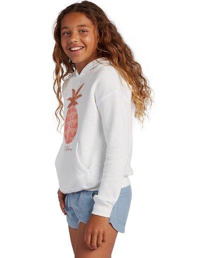 1 Girl's Aloha Love Pullover Sweatshirt White ABGSF00104 Billabong