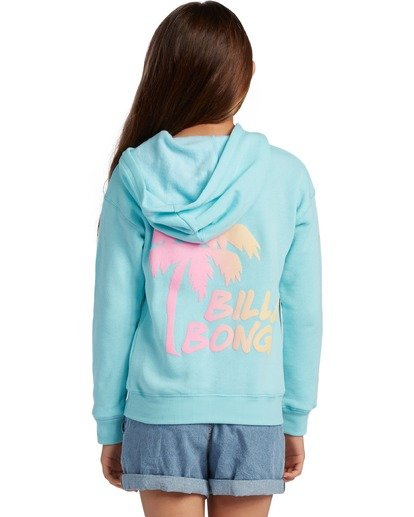 2 Girl's Wipe Out Pullover Sweatshirt Blue ABGSF00106 Billabong