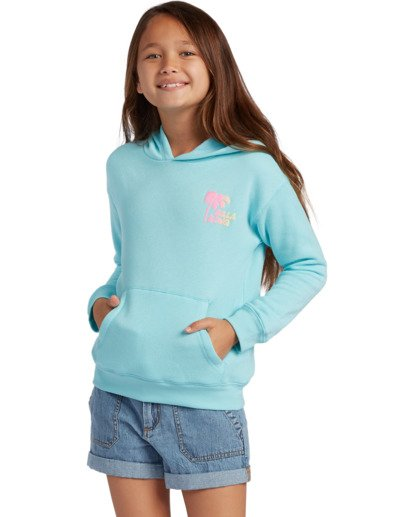 0 Girl's Wipe Out Pullover Sweatshirt Blue ABGSF00106 Billabong