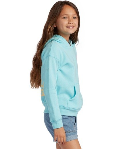 1 Girl's Wipe Out Pullover Sweatshirt Blue ABGSF00106 Billabong