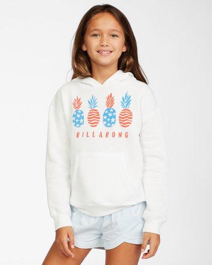0 Girl's Pineapple Pie Hoodie White ABGSF00110 Billabong