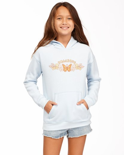 0 Girls' Naturally Sweet Pullover Hoodie Blue ABGSF00111 Billabong