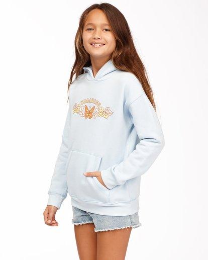 1 Girls' Naturally Sweet Pullover Hoodie Blue ABGSF00111 Billabong