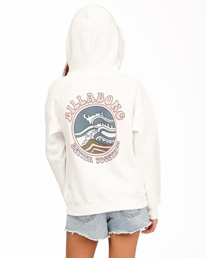 2 Girls' Better Together Pullover Hoodie White ABGSF00112 Billabong