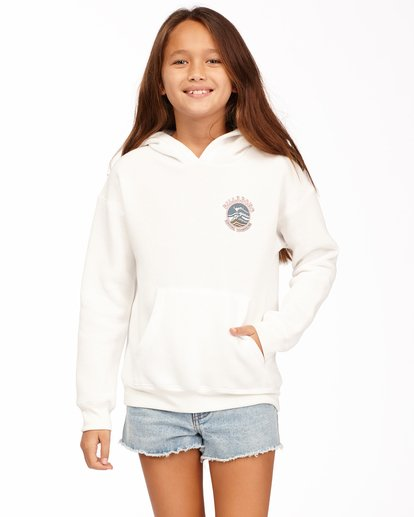 0 Girls' Better Together Pullover Hoodie White ABGSF00112 Billabong