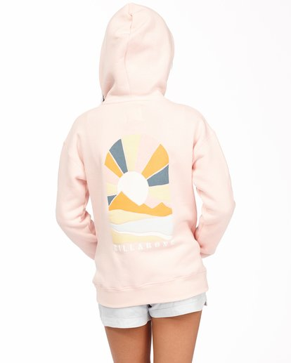 2 Girls' Keep Me Wild Pullover Hoodie Pink ABGSF00113 Billabong