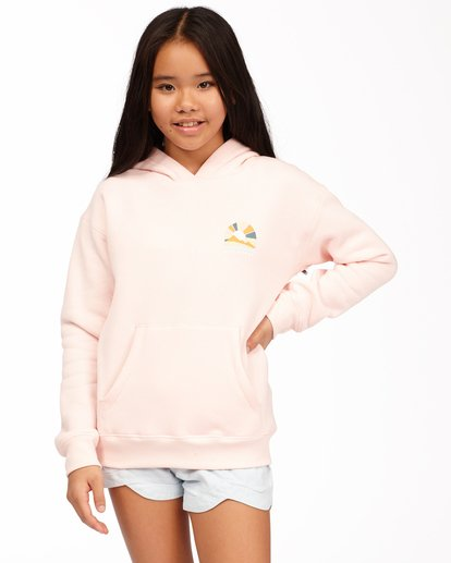 0 Girls' Keep Me Wild Pullover Hoodie Pink ABGSF00113 Billabong