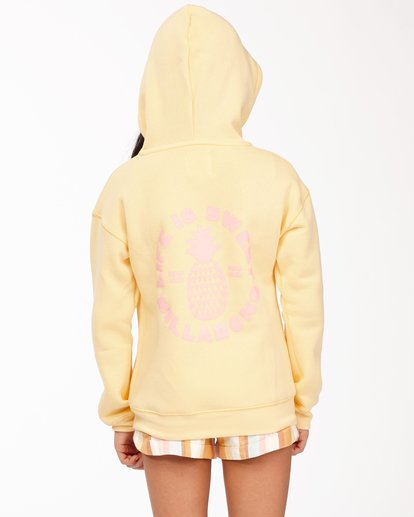 2 Girls' Life Is Sweet Pullover Hoodie Yellow ABGSF00114 Billabong