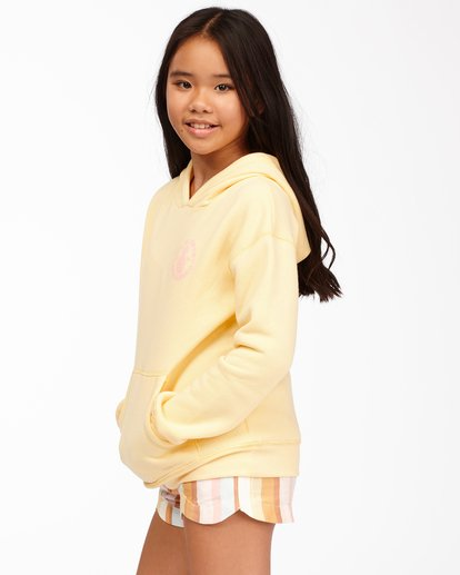 1 Girls' Life Is Sweet Pullover Hoodie Yellow ABGSF00114 Billabong