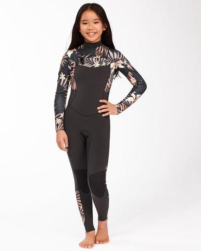 0 3/2 Girls' Salty Dayz Wetsuit Black ABGW100100 Billabong
