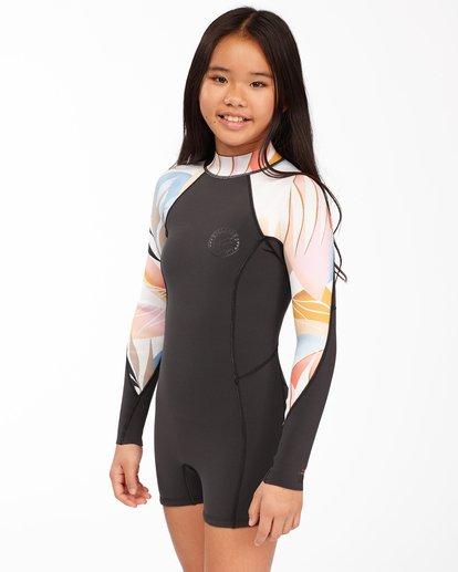 1 1mm Girls' Spring Fever Spring Wetsuit Red ABGW400100 Billabong