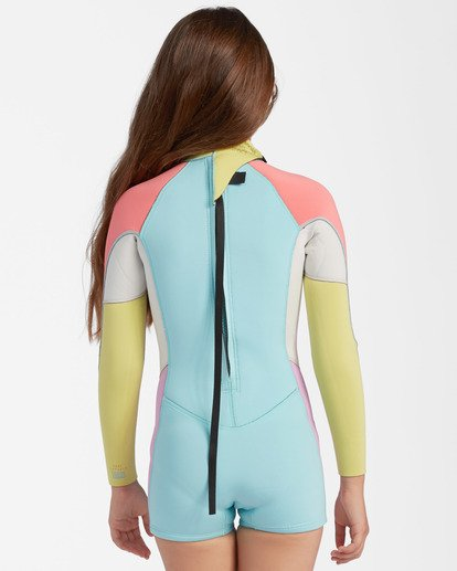 2 1mm Girls' Spring Fever Spring Wetsuit Blue ABGW400100 Billabong