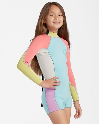1 1mm Girls' Spring Fever Spring Wetsuit Blue ABGW400100 Billabong