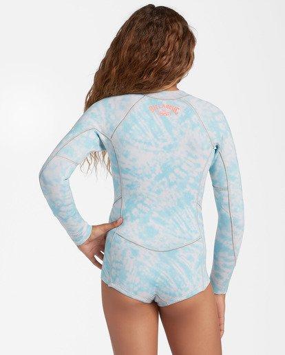 2 1mm Girls' Salty Dayz Spring Wetsuit Blue ABGW400101 Billabong
