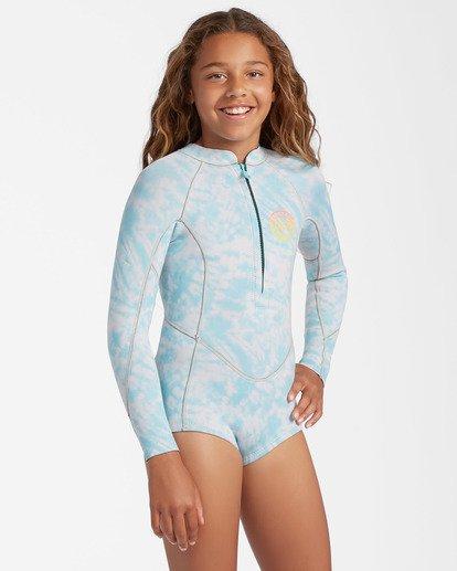 0 1mm Girls' Salty Dayz Spring Wetsuit Blue ABGW400101 Billabong
