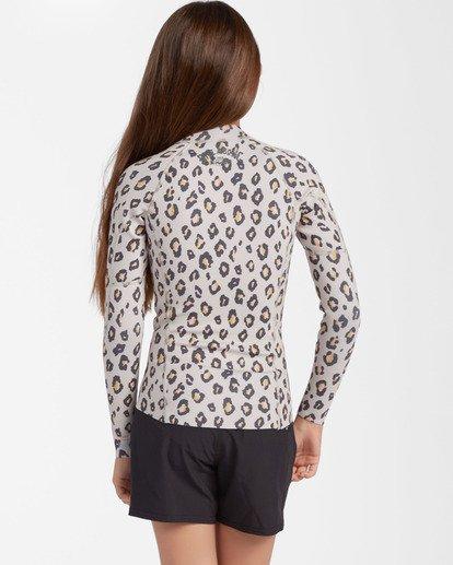2 1mm Girls' Peeky Wetsuit Jacket Beige ABGW800100 Billabong