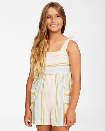 0 Girls' Hey Cutie Romper Grey ABGWD00114 Billabong
