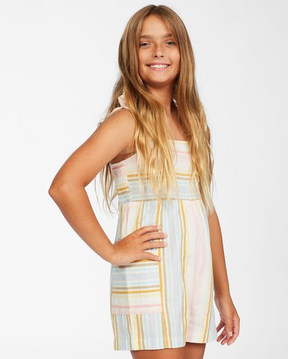 1 Girls' Hey Cutie Romper Grey ABGWD00114 Billabong
