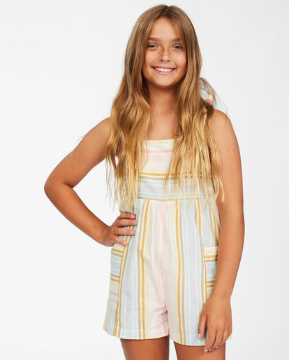 2 Girls' Hey Cutie Romper Grey ABGWD00114 Billabong