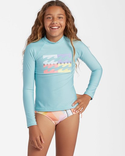 0 Girls' Core Surfdaze Rashguard Brown ABGWR00103 Billabong