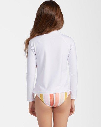 1 Girls' Core Surfdaze Rashguard White ABGWR00103 Billabong